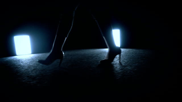 woman walking at night - human foot stock videos & royalty-free footage