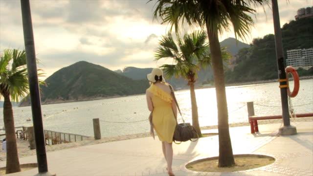 Woman Walking in Hong Kong
