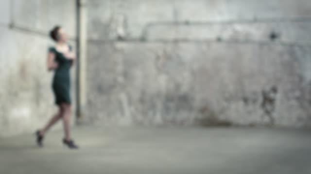 woman walking, using  telephone headset and flirting - secretary stock videos & royalty-free footage