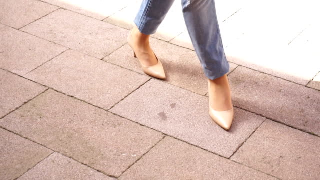 woman walking with high heels - tan stock videos and b-roll footage