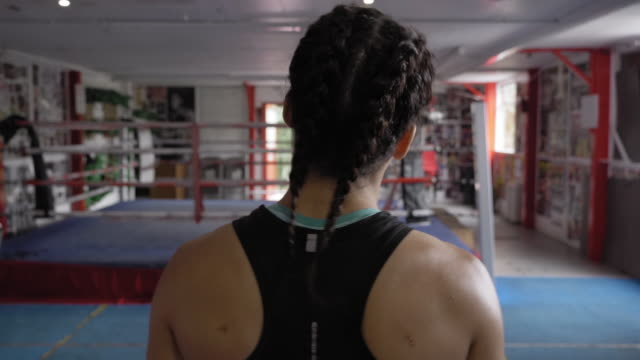 woman warming up - boxing stock videos & royalty-free footage
