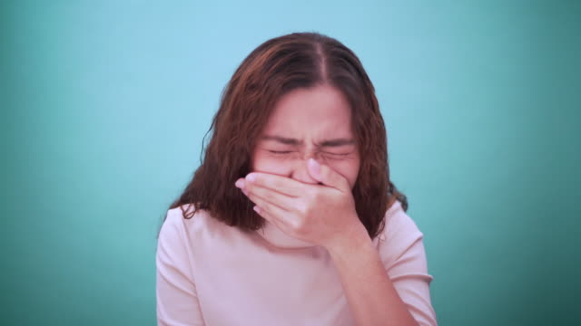 woman was sick - sneezing stock videos & royalty-free footage
