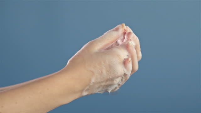 woman washing hands. little girl washing hands with water and soap in bathroom, slow motion - limb body part stock videos & royalty-free footage