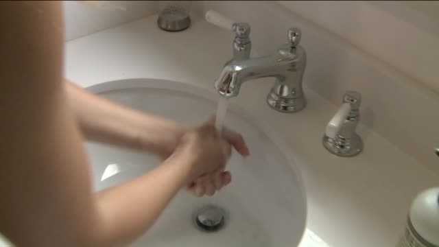 ktla woman washing her hands - washing hands stock videos & royalty-free footage