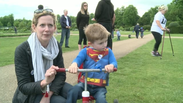 woman who was told she would never walk again takes part in charity walk location unknown ext kate thorntonjones interview sot - itv london tonight weekend stock videos & royalty-free footage