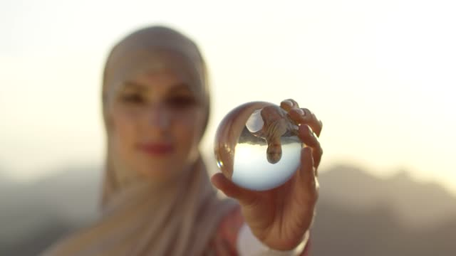 woman with a healing crystal - quartz stock videos & royalty-free footage