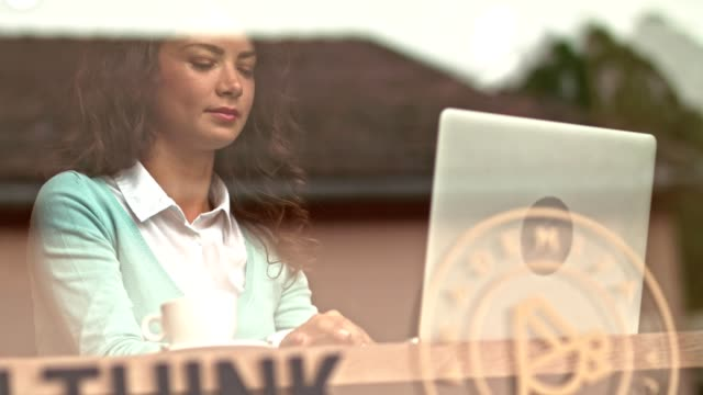 woman with a laptop - long distance relationship stock videos & royalty-free footage