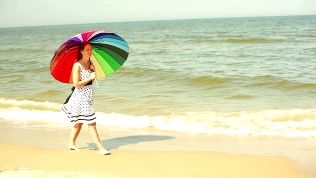 woman with an umbrella - protection stock videos & royalty-free footage
