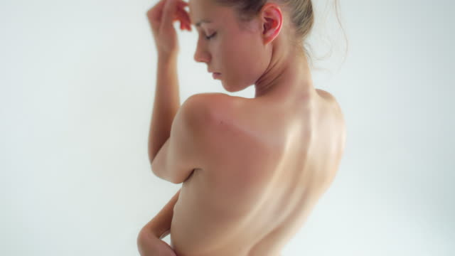 woman with beautiful skin - semi dress stock videos & royalty-free footage