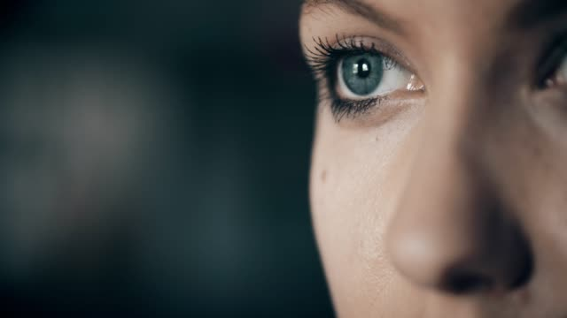 woman with blue eyes - close up stock videos & royalty-free footage
