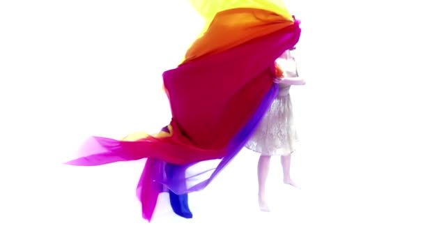 woman with colored fabric - shawl stock videos and b-roll footage