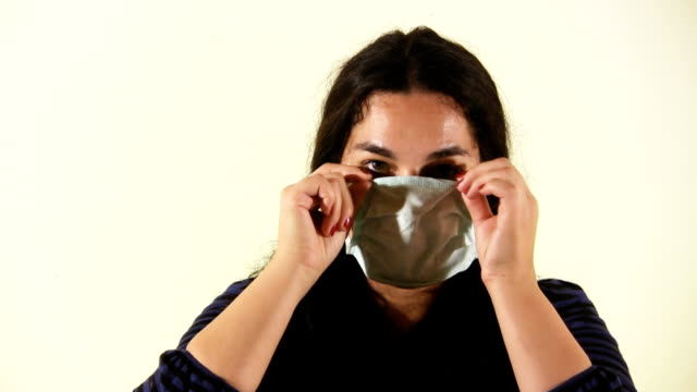 Woman with flu mask (HD)
