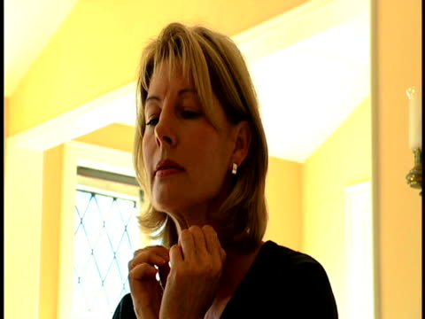 woman with headache - one mature woman only stock videos & royalty-free footage