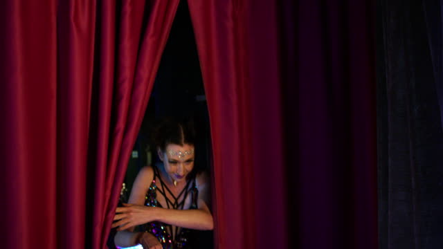 woman with luminescent plastic hoop - cabaret stock videos & royalty-free footage