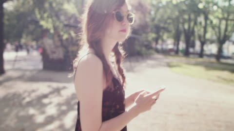 woman with smartphone - profile stock videos & royalty-free footage