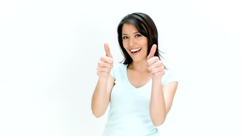 woman with thumbs up - ok sign stock videos & royalty-free footage