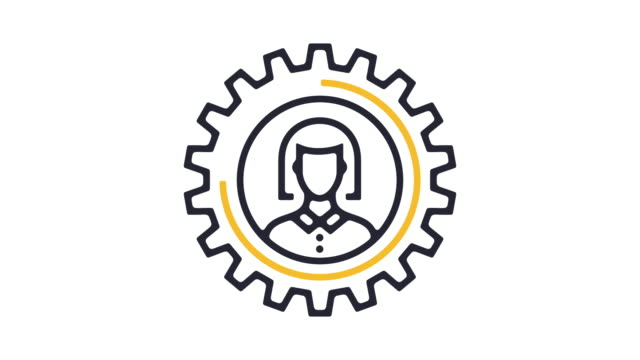 Woman Workforce Icon Animation