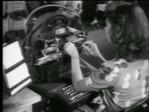 view woman working at machine issuing war bonds / chicago / world war ii / news - 1944 stock videos and b-roll footage