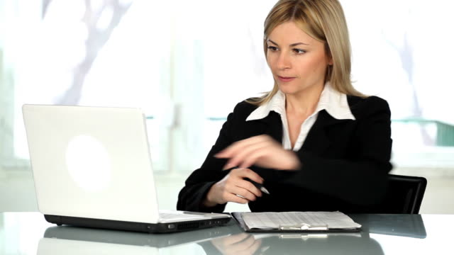 Woman working in the office.