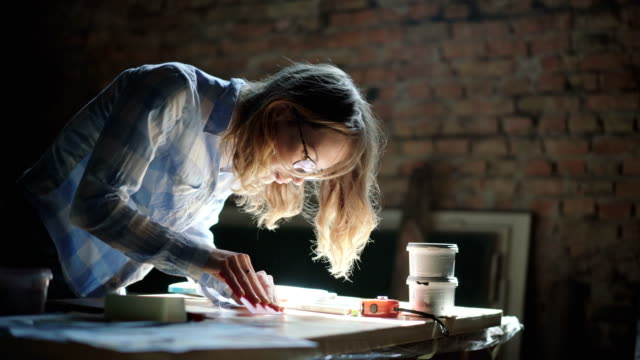 Woman working in the studio