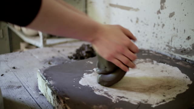 woman working potters - potter stock videos and b-roll footage