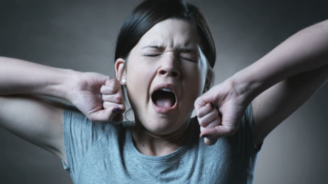 woman yawning - yawning stock videos & royalty-free footage