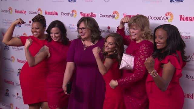 chyron woman's day celebrates 15th annual red dress awards at jazz at lincoln center on february 06 2018 in new york city - laura benanti stock videos and b-roll footage