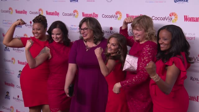 clean woman's day celebrates 15th annual red dress awards at jazz at lincoln center on february 06 2018 in new york city - laura benanti stock videos and b-roll footage