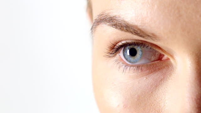 woman's eye with pupil constricting - muscular contraction stock videos and b-roll footage
