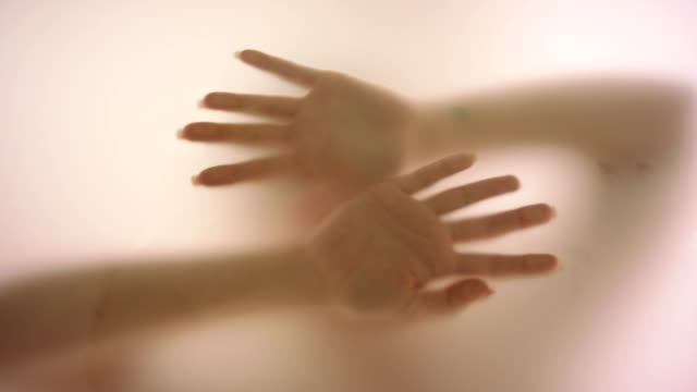 woman's hand behind fogged glass - romantic activity stock videos & royalty-free footage