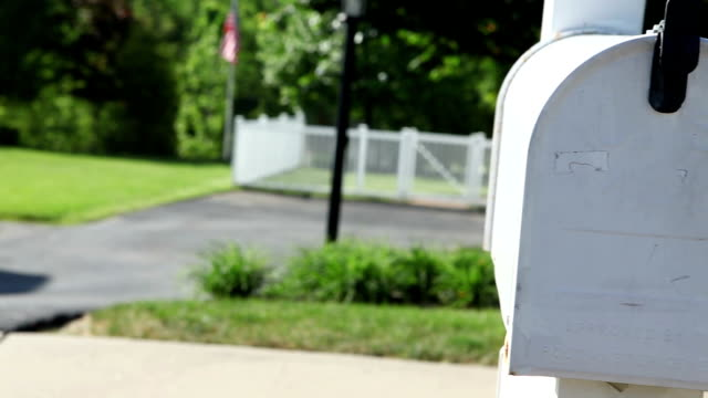 Woman's Hand Retrieving Mail From Mailbox