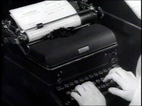 1946 cu woman's hands typing / washington, dc, united states - 1946 stock videos and b-roll footage