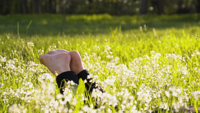 DL Woman's legs in the grass