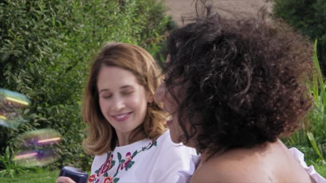 women and girl at picnic - ウィルトシャー州点の映像素材/bロール