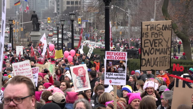 Women and their allies marched in support of the Women's March in Washington Toronto city saw one of the largest events on its history as thousands...