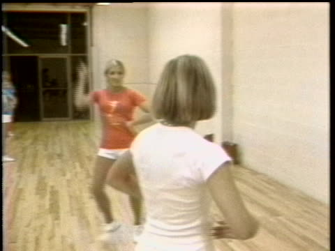 women are shown running and doing aerobics - sport stock videos & royalty-free footage