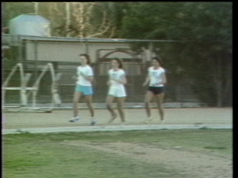 women are shown running and doing aerobics - jogging stock videos & royalty-free footage