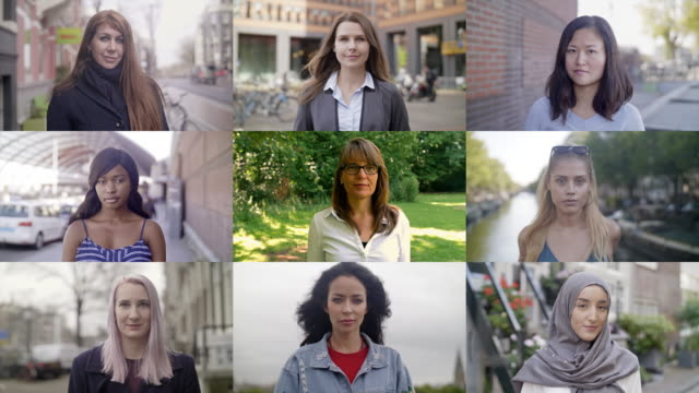 donne in tutto il mondo - video collage video stock e b–roll