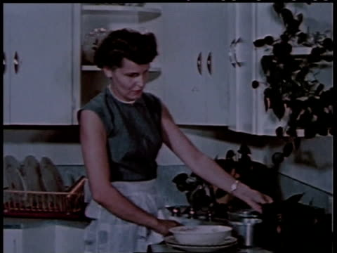 1951 montage women at home listening to a radio announcement / st. george, utah, united states - 1950 stock videos & royalty-free footage