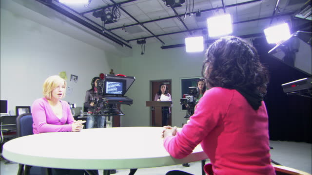 MS PAN Women at work in television studio, Brooklyn, New York City, USA