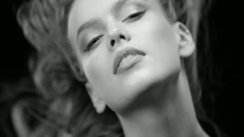 women, beauty, fashion model, human face. black & white fashion video. - advertisement stock videos & royalty-free footage