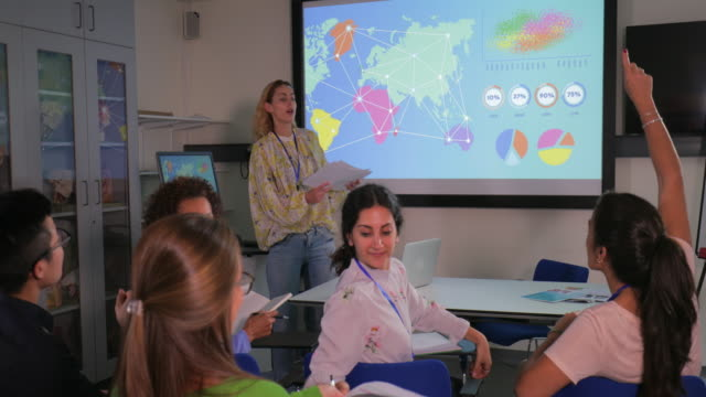 women biologists in class - interactive whiteboard stock videos & royalty-free footage