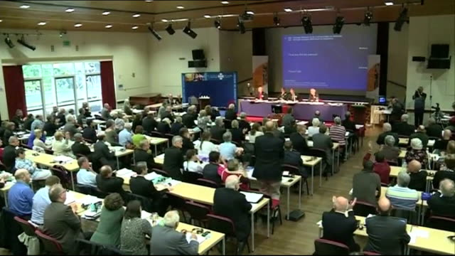 women bishops to be allowed in church of wales wales int results of vote for women bishops in church of wales being read aloud and applause in... - archbishop stock videos & royalty-free footage