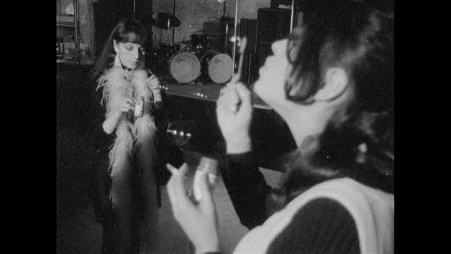 women blow bubbles at alternative night club, london; 1967 - 1967 stock videos & royalty-free footage
