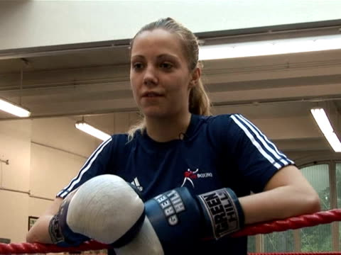 women boxers will fight at the olympics for the first time when the sport makes it's debut at the london games in 2012. london, greater london,... - boxing women's stock videos & royalty-free footage
