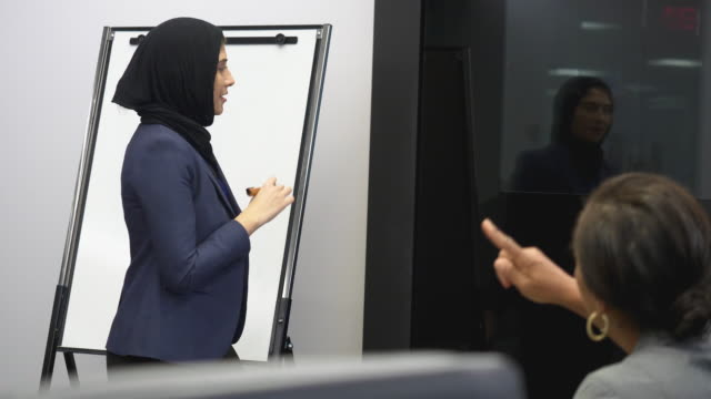 女性ビジネス会議 - モデスト・ファッション点の映像素材/bロール