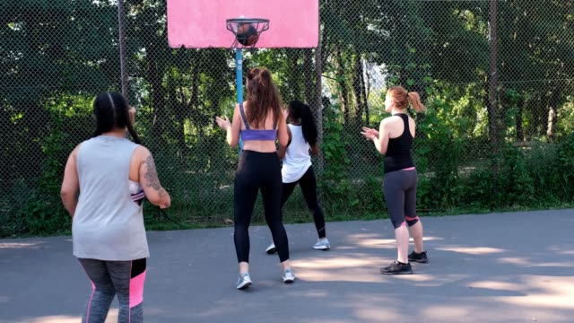 women celebrating a score during basketball game - amateur stock videos & royalty-free footage