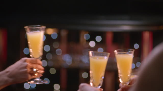 4 women cheers - celebratory toast stock videos & royalty-free footage