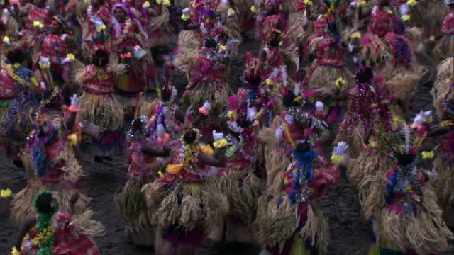 women dance at tribal toka festival, tanna island, vanuatu - traditional ceremony stock videos and b-roll footage