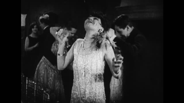 women dance the charleston in the 1920s. with sound. - 1920 stock videos & royalty-free footage